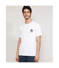 camiseta masculina manga curta capacete futebol americano gola careca branca