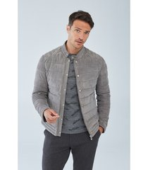 blazer boris becker silver quilted leather jacket