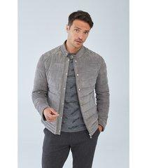 blazer boris becker silver quilted leather jacket