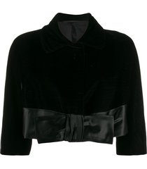 a.n.g.e.l.o. vintage cult 1950s silk bow jacket - black