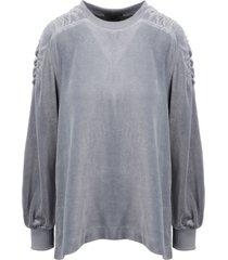 alberta ferretti chenille sweatshirt