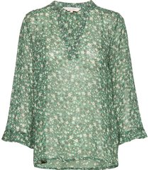 bitta bl blouse lange mouwen groen part two