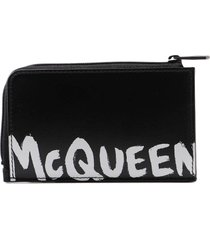 alexander mcqueen large zip coin card case