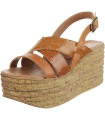 sandalia de cuero suela fionna piton