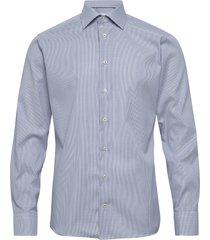 light blue micro woven shirt overhemd business blauw eton