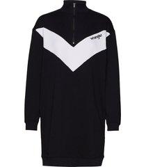sweat dress kort klänning svart wrangler