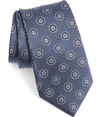men's nordstrom medallion silk tie, size regular - blue