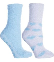 minxny women's hearts lavender infused slipper socks, 2-pair pack