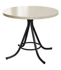 mesa de jantar redonda phoenix bege 90 cm