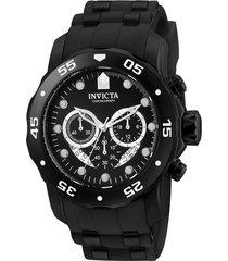 reloj invicta 6986 negro acero inoxidable, silicona