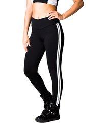 calça adamas fitness preta com listras laterais