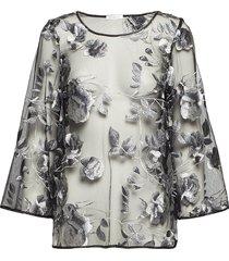 artisan top blouse lange mouwen zwart ida sjöstedt