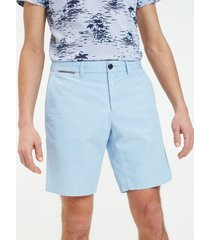 tommy hilfiger men's belted lightweight twill short chambray blue - 33