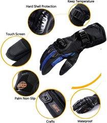 guantes suomy impermeables para moto - azul