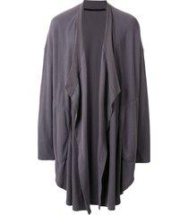 julius oversized draped cardigan - grey