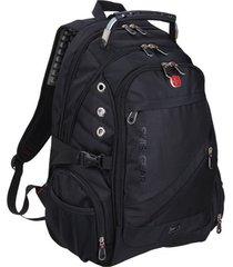 mochila para hombre de negocios suizo de 17 pulgadas para hombre mochila para viaje de viaje mochila oxford impermeable multifuncional negro