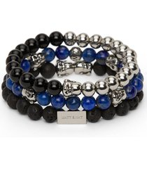matt & nat laughing buddha bead charm bracelets, black