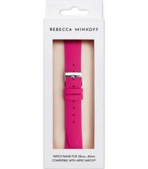 rebecca minkoff women's magenta silicone apple watch strap 38/40mm