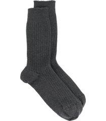 baserange ribbed cashmere socks - grey