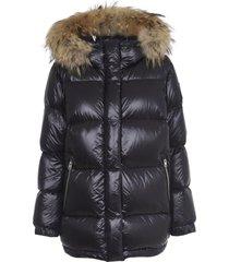 woolrich aliquippa black puffy jacket