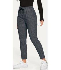 cordón de cuadros gris diseño pantalones