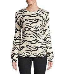 lizzie zebra-print sweater