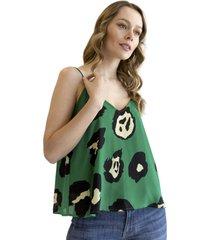 blusa bonnie verde racaventura