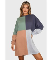 vestido missguided multicolor - calce oversize