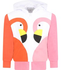 multicolor sweatshirt for girl with flamingos