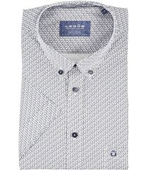 ledub korte mouw shirt navy easy iron