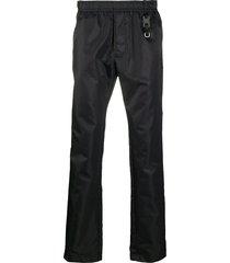 1017 alyx 9sm elasticated waist slim-fit trousers - black