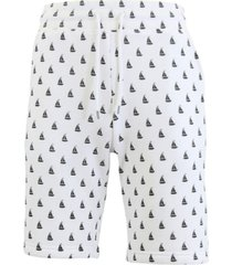 galaxy by harvic men's slim fit french terry printed shorts with contrasting sail boat design