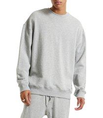 men's ksubi kross biggie crewneck sweatshirt, size xx-large - grey