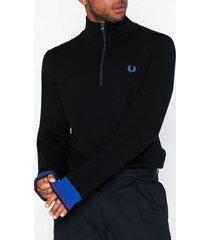 fred perry half zip track jkt tröjor black
