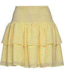 lucent eval skirt kort kjol gul becksöndergaard