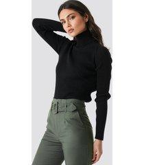 trendyol milla turtleneck knitted sweater - black