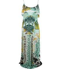 just cavalli all-over print dress - white