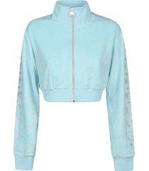 chiara ferragni chenille strass crop jacket