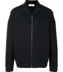 bally drop-shoulder sweat jacket - blue
