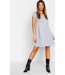 jersey cap sleeve skater dress, grey marl
