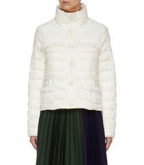 'lunaire' contrast fabric mock neck puffer jacket