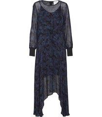 alex dress maxi dress galajurk blauw just female
