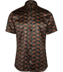 river island mens big & tall black abstract print shirt