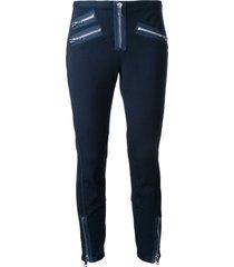 3.1 phillip lim moto legging w zips - blue