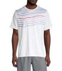grand slam men's asymmetric-print t-shirt - bright white - size m