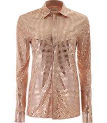 bottega veneta mirror-effect shirt