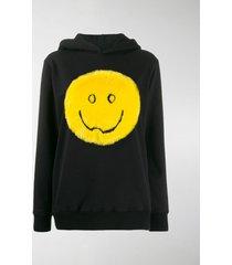 kirin faux fur smile hoodie