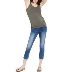 motherhood maternity ripped cropped maternity jeans