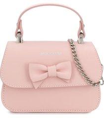 monnalisa bolsa tiracolo de couro - rosa