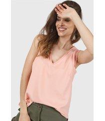 blusa rosa vindaloo lino crepe